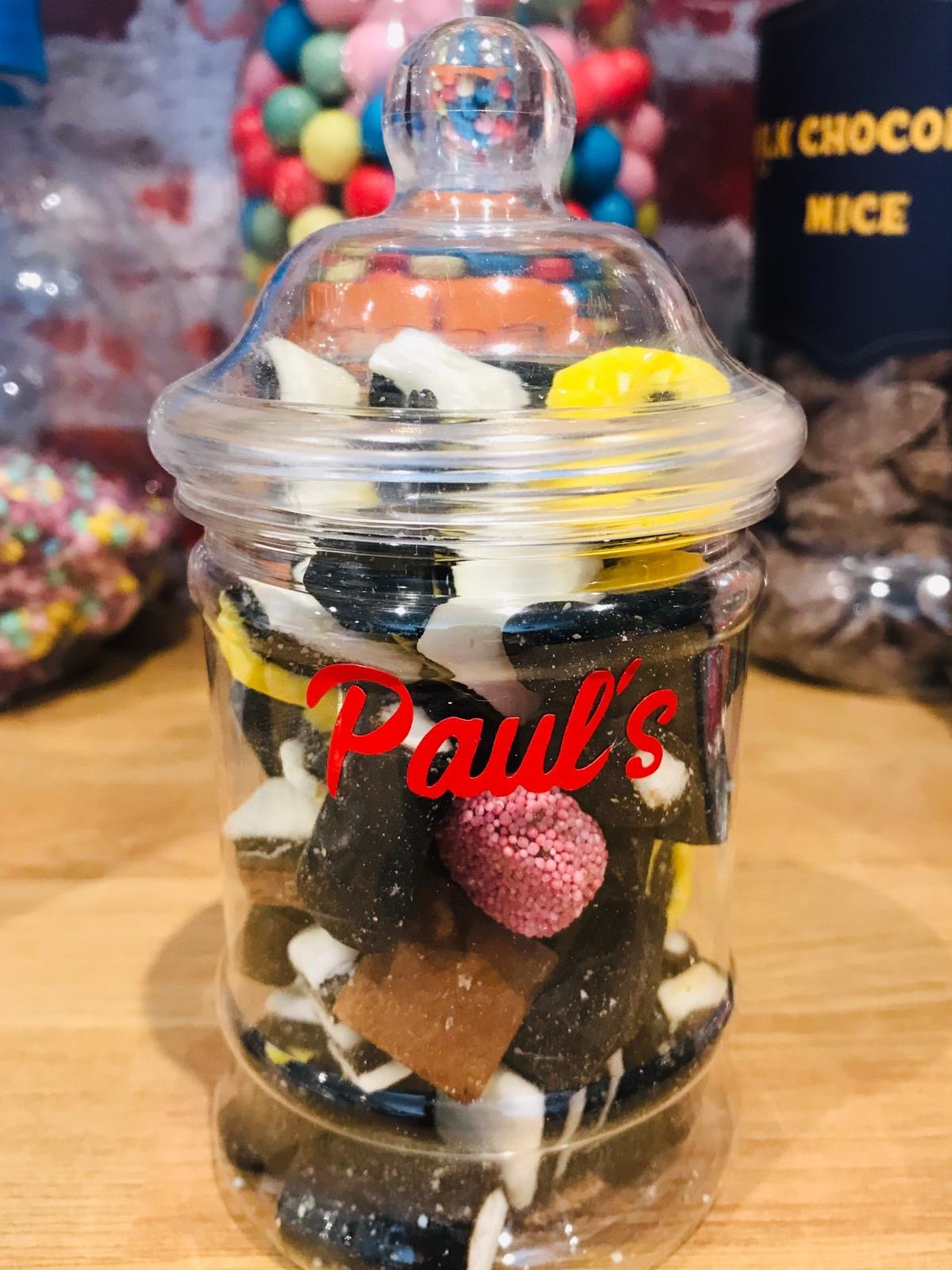 personalised mini jar